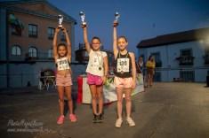 NIÑAS DE 9 Y 10 AÑOS: 1ª 3 Sara Moreno, 2ª 358 Milena Alonso, 3ª 139 Alicia Pascual