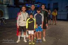ADULTOS MASCULINO 100 M.: 1º 524 Santiago Muñoz, 2º 342 Daniel Muñoz, 3º 476 Andrey George