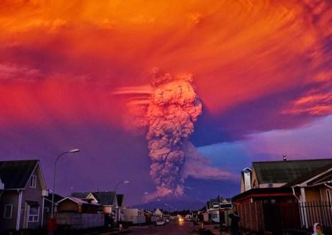 Espectacular erupción del volcán Calbuco