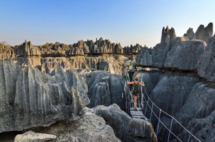 La parte sur del «Tsingy de Bemaraha» fue declarada Parque Nacional y puede ser visitada por turistas