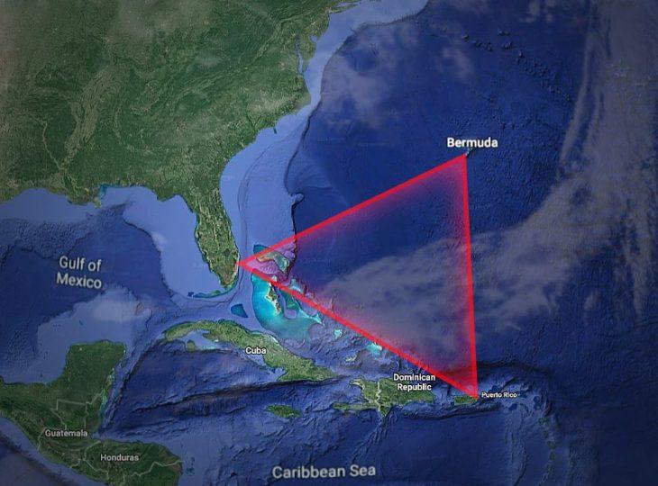 El Triángulo de las Bermudas esta ubicado entre Puerto Rico, Florida y las Islas Bermudas.