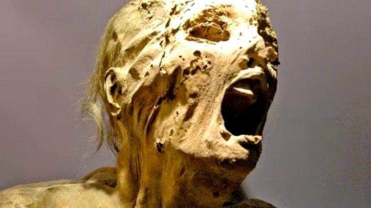 Impactante imagen de la momia que grita