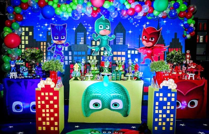 88cc325632 temática Héroes en Pijamas decoracion fiesta heroes en pijamas pj mask