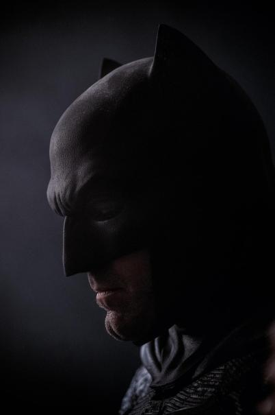 Afflect as Batman close up