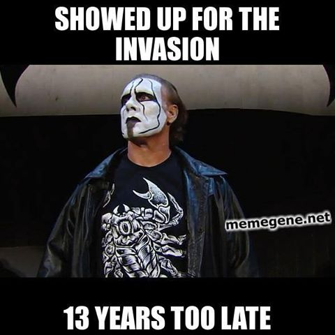 Sting 13 years too late