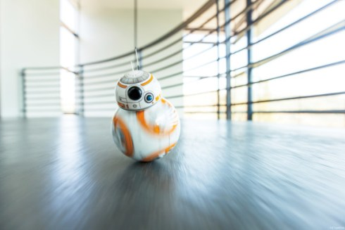 bb8 rolling towards camera
