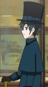 blue overcoat side torso