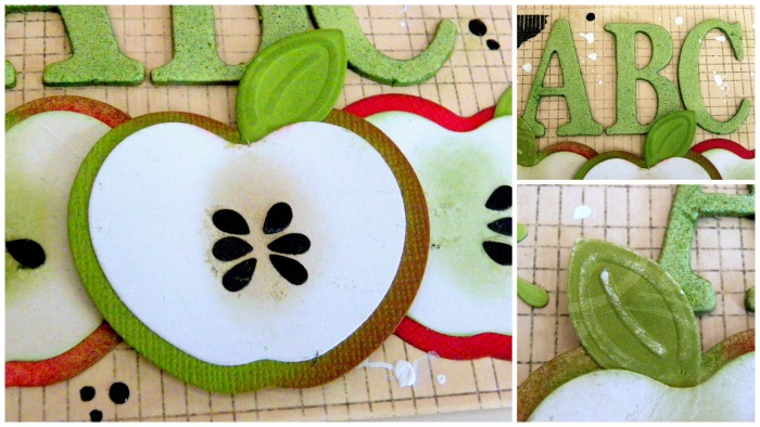 Back to School: An Apple for Teacher Card by Linda Lucas for Spellbinders Paper Arts Step2