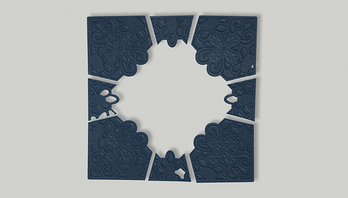 Classic Lace September Large Die of the Month | Be Kind Card Step 2