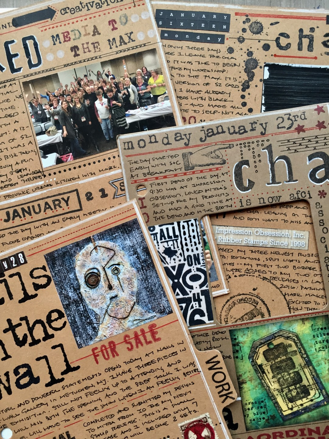 Documenting Life in Art: Mixed-Media Art Journal Planner Image 7