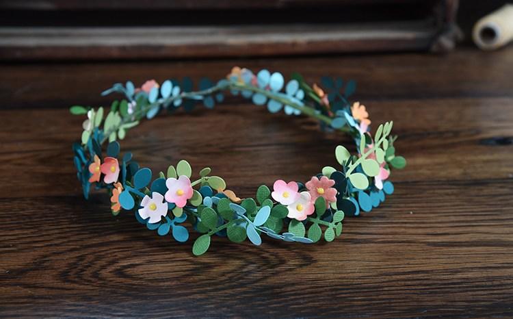 Trendy Flower and Leaf Garland Headband Tutorial: Step 6