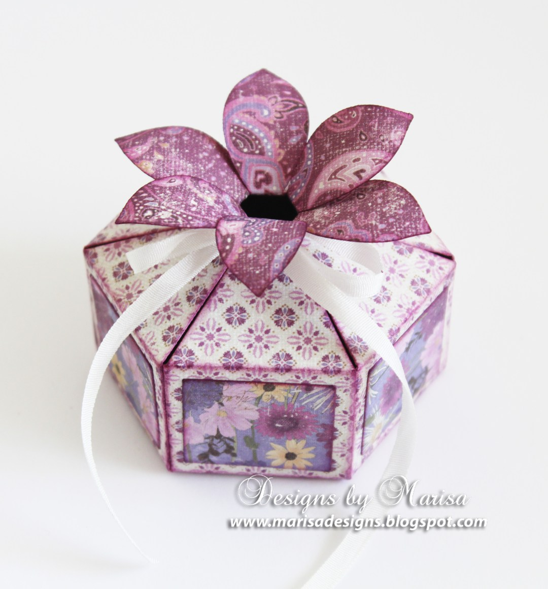 Special occasion flower top gift boxes spellbinders