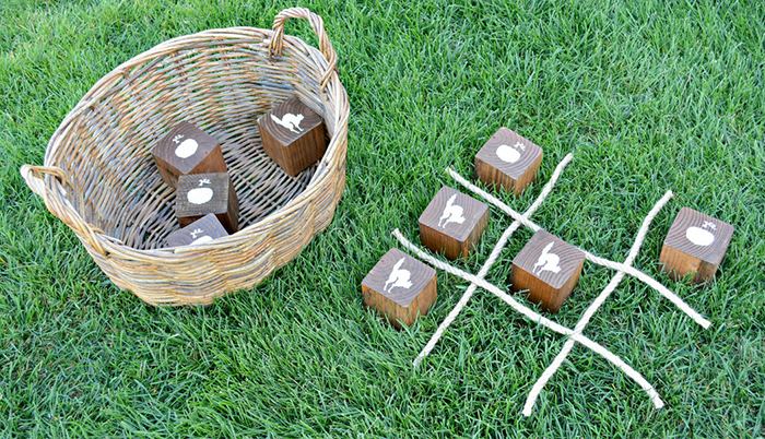How to Create a Perfect DIY Wooden Halloween Tic Tac Toe Game by Miranda Webster Finished Image 2