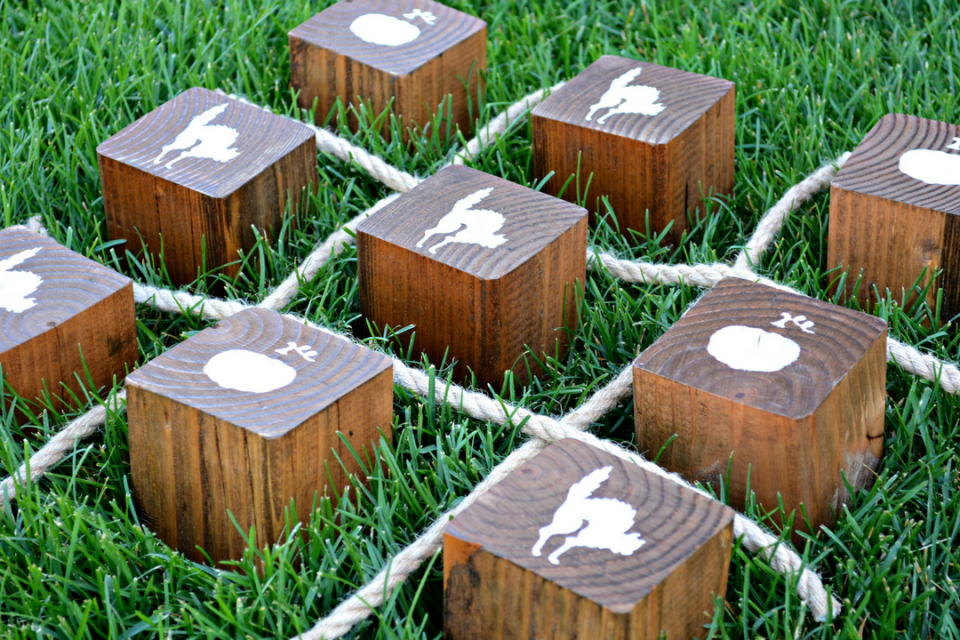 How to Create a Perfect DIY Wooden Halloween Tic Tac Toe Game by Miranda Webster Finished Image 4