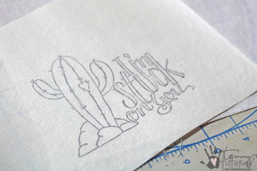 Easy Steps to Use Stamps in Embroidery: Step 2