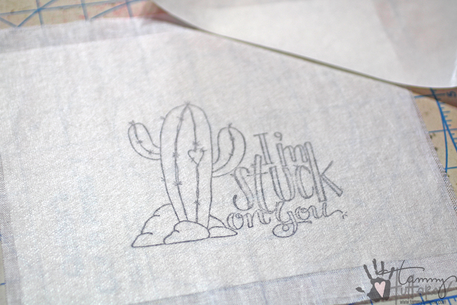 Easy Steps to Use Stamps in Embroidery: Step 4