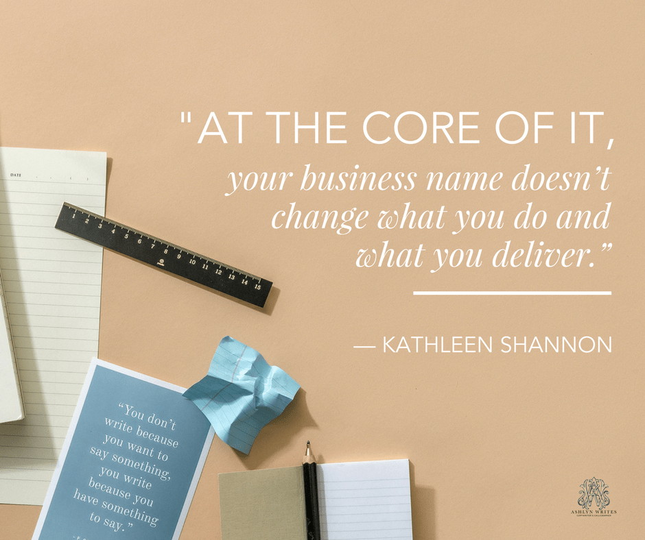 How to name your business quote
