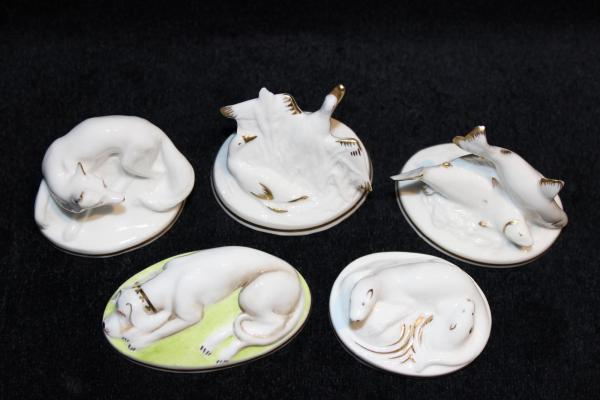 Royal Worcester wildlife Cameo series