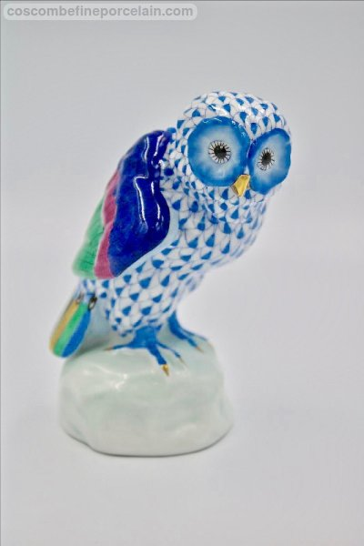 Herend Owl blue