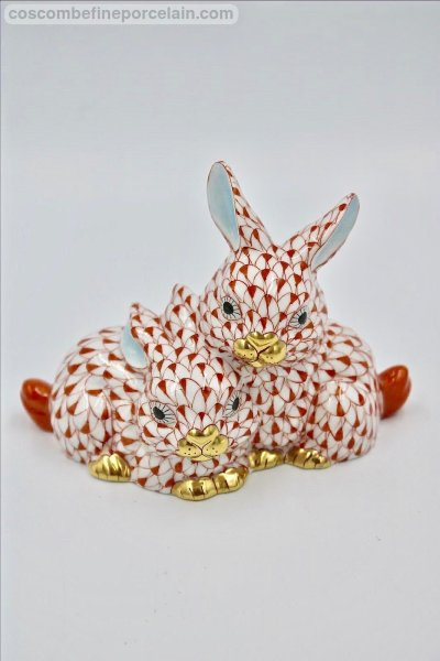Herend Red Bunny rabbits