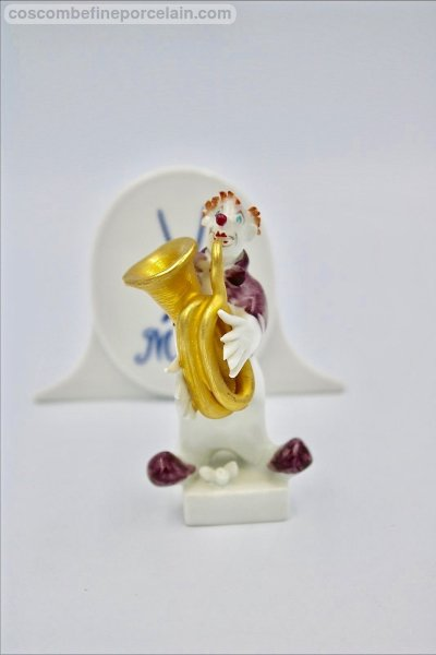 Meissen Clown French Horn