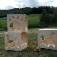 Cubo Cat's Home da parete o da appoggio  Sfo…