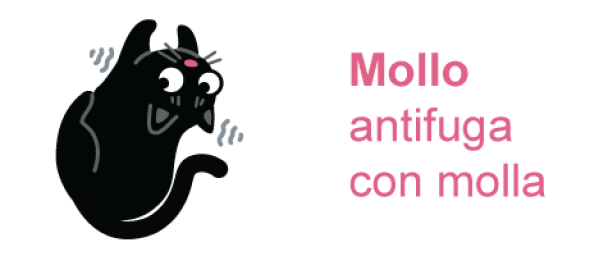 NOVITA': Mollo - antifuga per gatti con molla