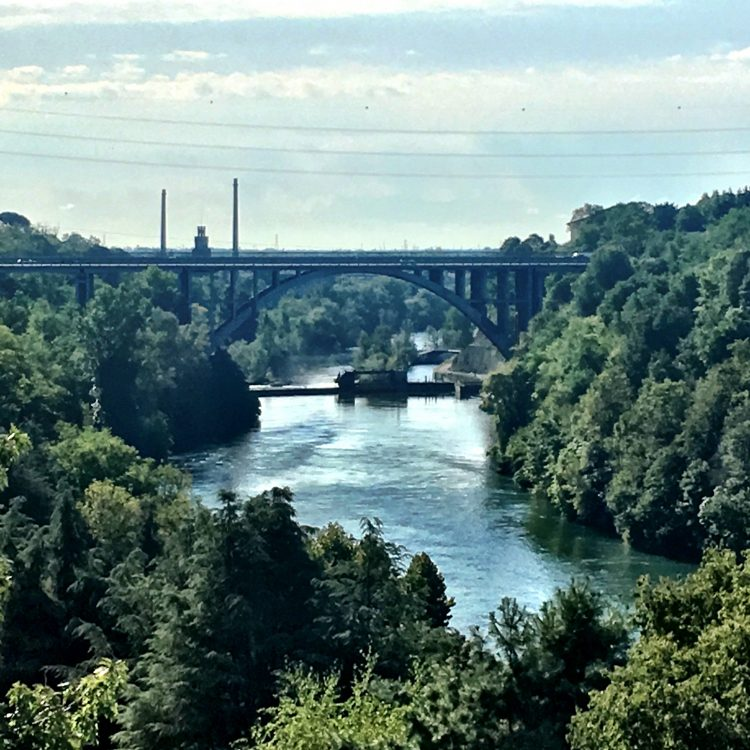 Il Ponte che collega la sponda milanese a quella bergamasca sul fiume Adda