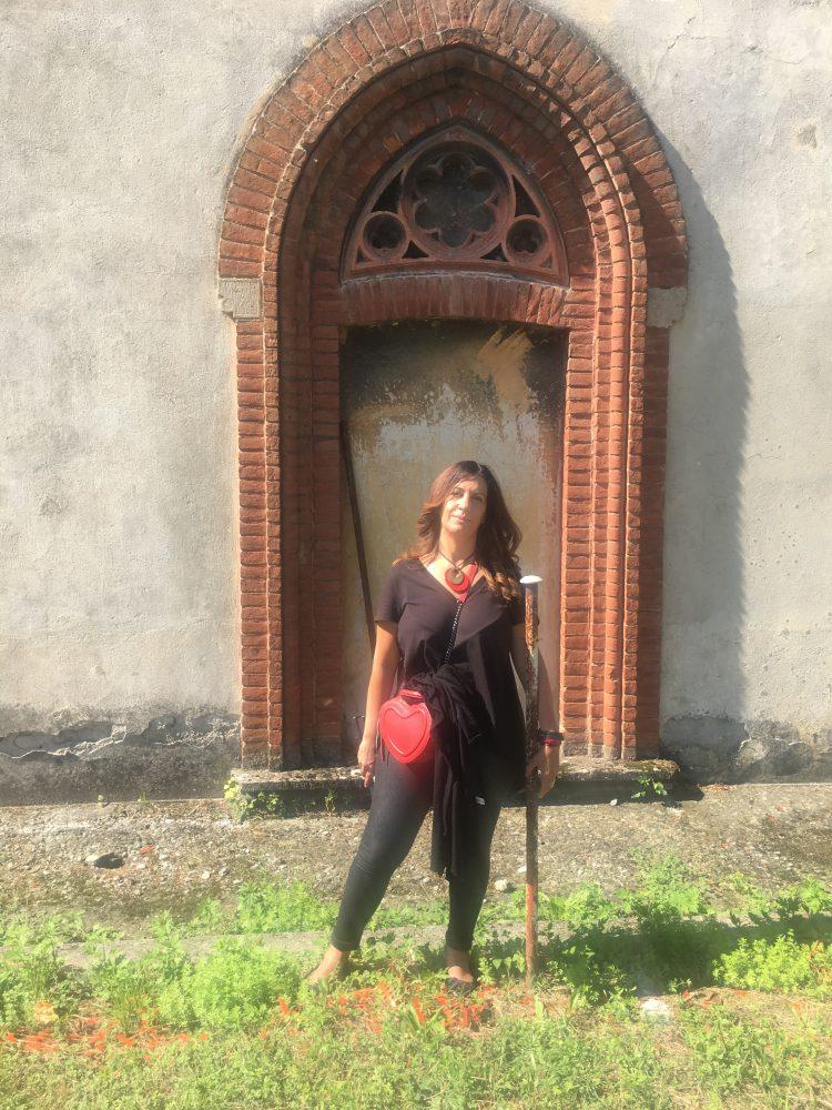 L'autrice di Cose di Bergamo in visita a Crespi d'Adda