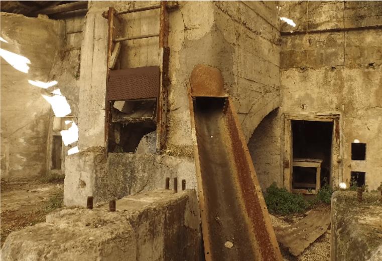 scivoli per l'insaccamento del cemento