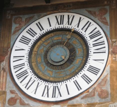 Orologio Fanzago particolari