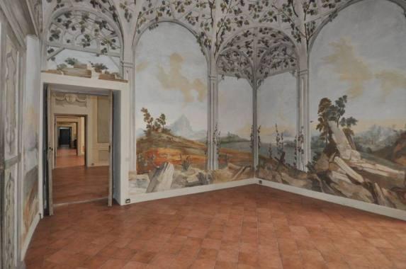 Villa dei Tasso affreschi e Enfilade