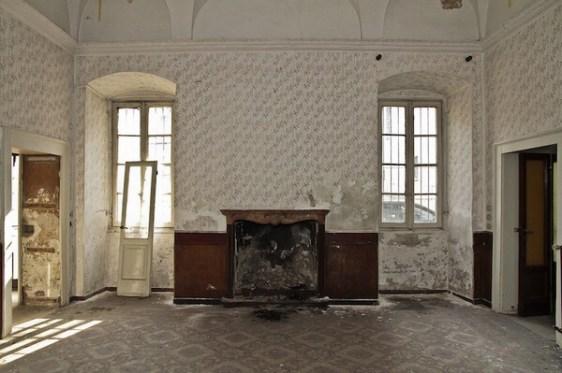 Sala comune Hotel Commercio di Bergamo