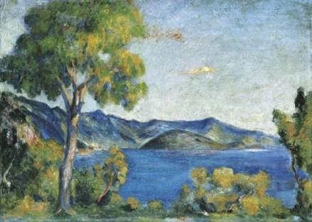 Vista su Monte Isola in un quadro di Aligi Sassu