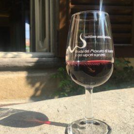 Bicchiere di rosso Pagnoncelli