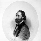 Antonio Bazzini ritratto in mandorla