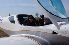 Raffi Garofalo al termine del volo sopra il Lago d'iseo