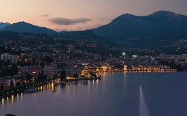 Paradiso Lugano di sera