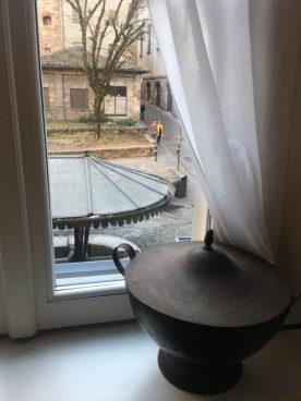 Il Lavatoio di via Mario Lupo visto dal Gombit Hotel