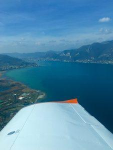Sebino Basso Lago visto dall'alto