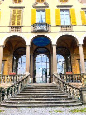 Scalone Villa Gromo con affreschi