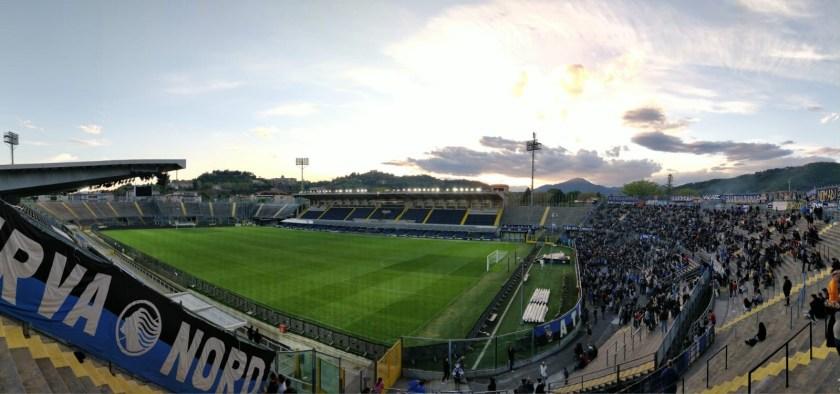Lo stadio dell'Atalanta visto dalla Curva Nord