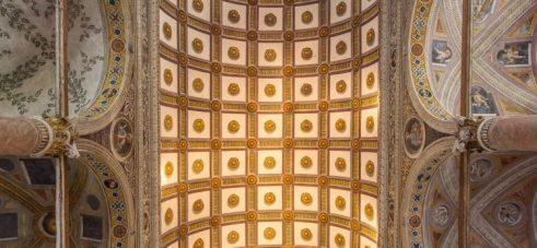Soffitto a rosoni di Santa Maria in Valvendra
