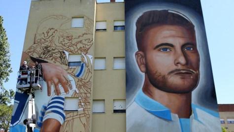 Murale Lazio - @Tuttosport