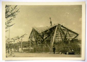 chiesa di Longuelo durante la costruzione Fondo Giuseppe Pizzigoni
