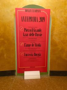 Cartellone delle opere di Donizetti al Teatro Sociale
