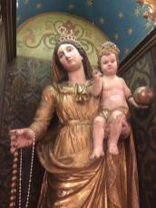 statua lignea Maria con Bambino