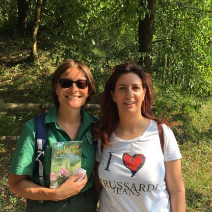 Raffaella Garofalo - Cosedibergamo.com e Francesca Romeli guida volontaria della Valle del Freddo