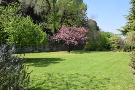 Giardino a terrazzamento nel Parco privato di Palazzo Moroni