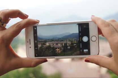 Fotografare l'altopiano di Clusone dalla Panchina Gigante di Songavazzo